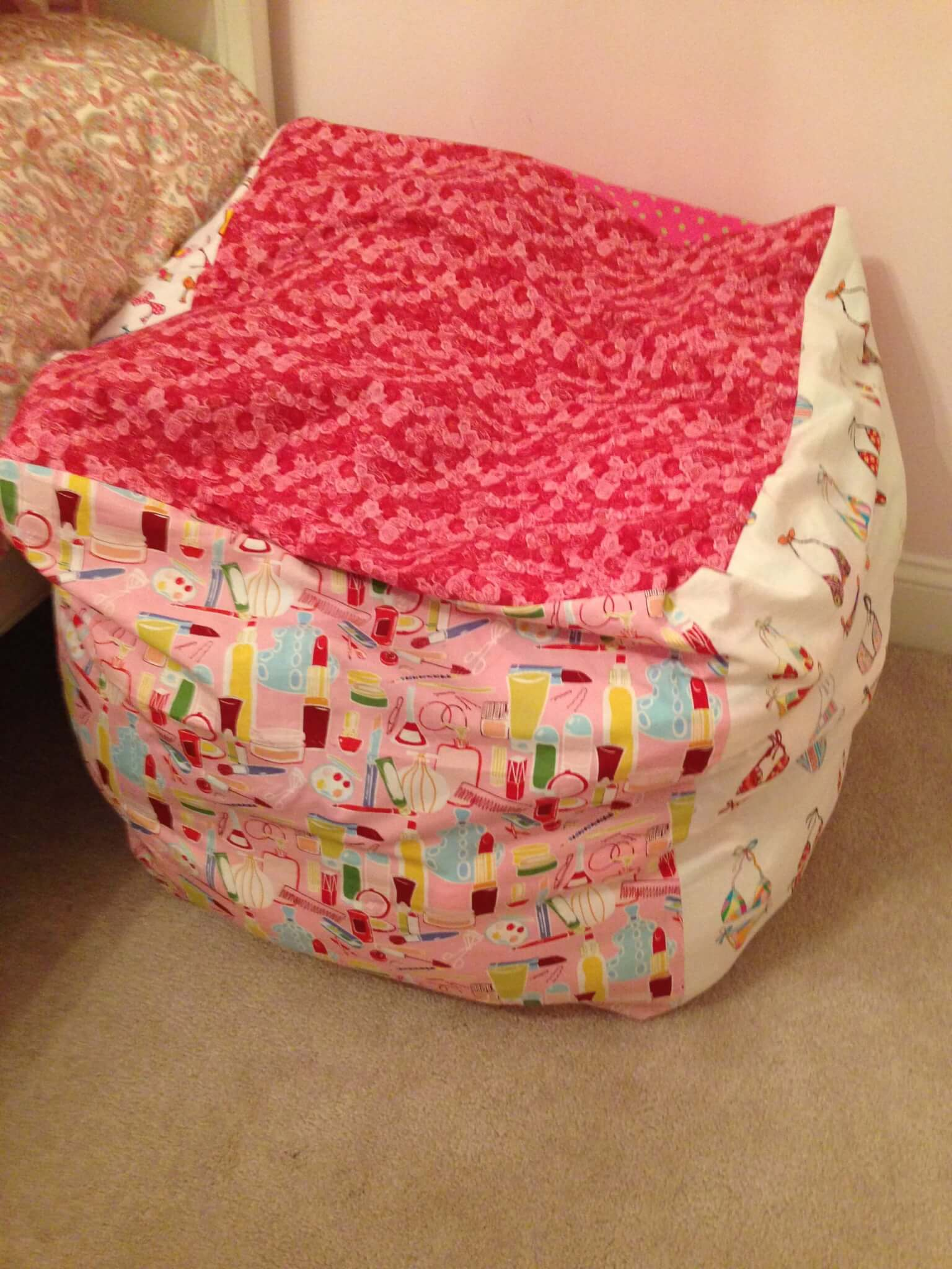 Diy Bean Bag Chair A Place To Hide The Mess