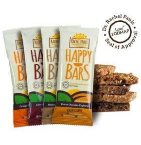 happy bars snack food low fodmap