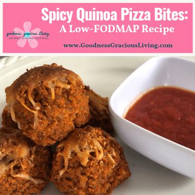 Spicy Quinoa Pizza Bites: A Low-FODMAP Recipe!