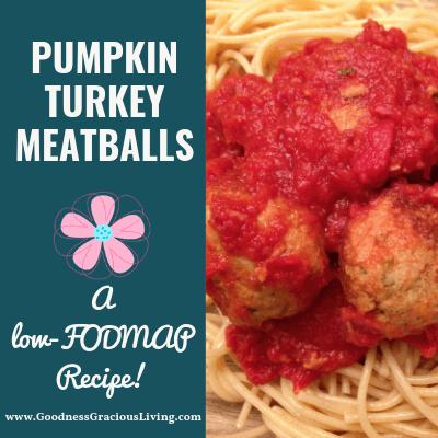 Pumpkin Turkey Meatballs: A low-FODMAP Recipe
