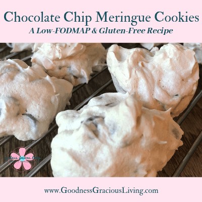 Chocolate Chip Meringue Cookies:  A Low-FODMAP and Gluten-Free Recipe