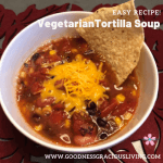 vegetarian tortilla soup square